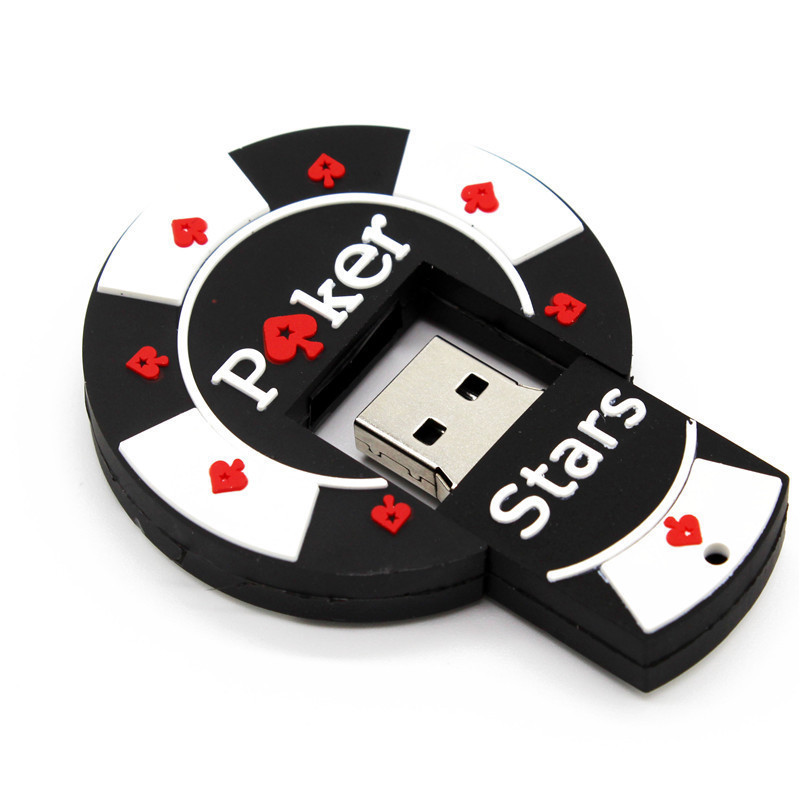 Bargaining Chip Shaped  Pok Star Pen Drive 4GB 8GB 16GB 32GB USB Flash Drive