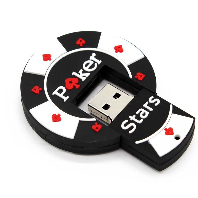 Bargaining Chip Shaped  Pok Star Pen Drive 4GB 8GB 16GB 32GB USB Flash Drive