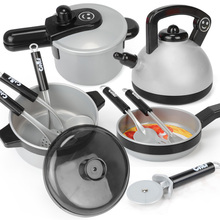 Big Size Kids Classic Pretend Play Kitchen Toys Set Children Simulation Utensils Cooking Pots Saucepan House Game Baby Gifts children play simulation kitchen cooking utensils