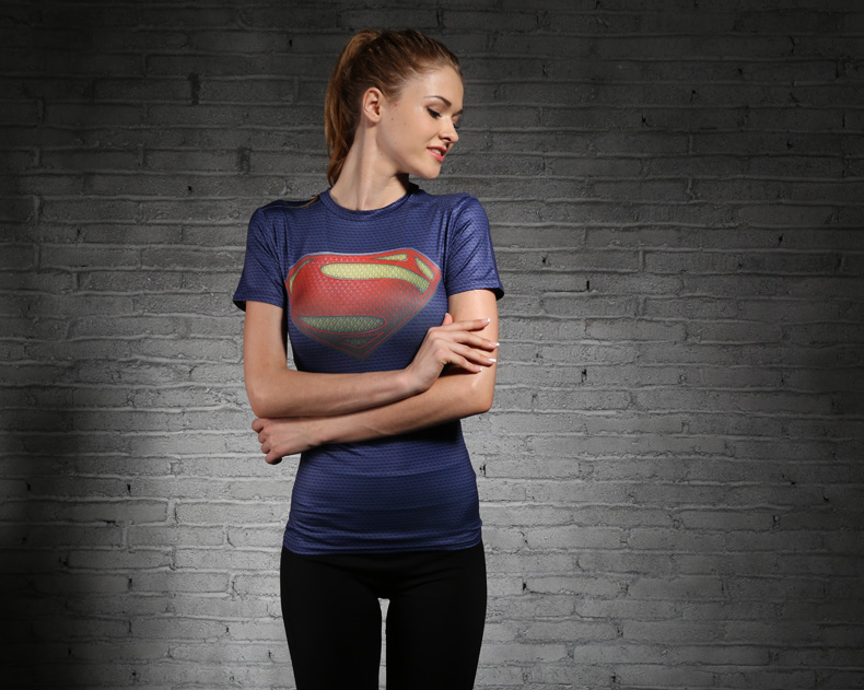 Superman 3D Printed New Quick Dry Marvel clothing Running cycling Jersey Men women Sport short Sleeve Compression Top Gym Men in Cycling Jerseys from Sports Entertainment