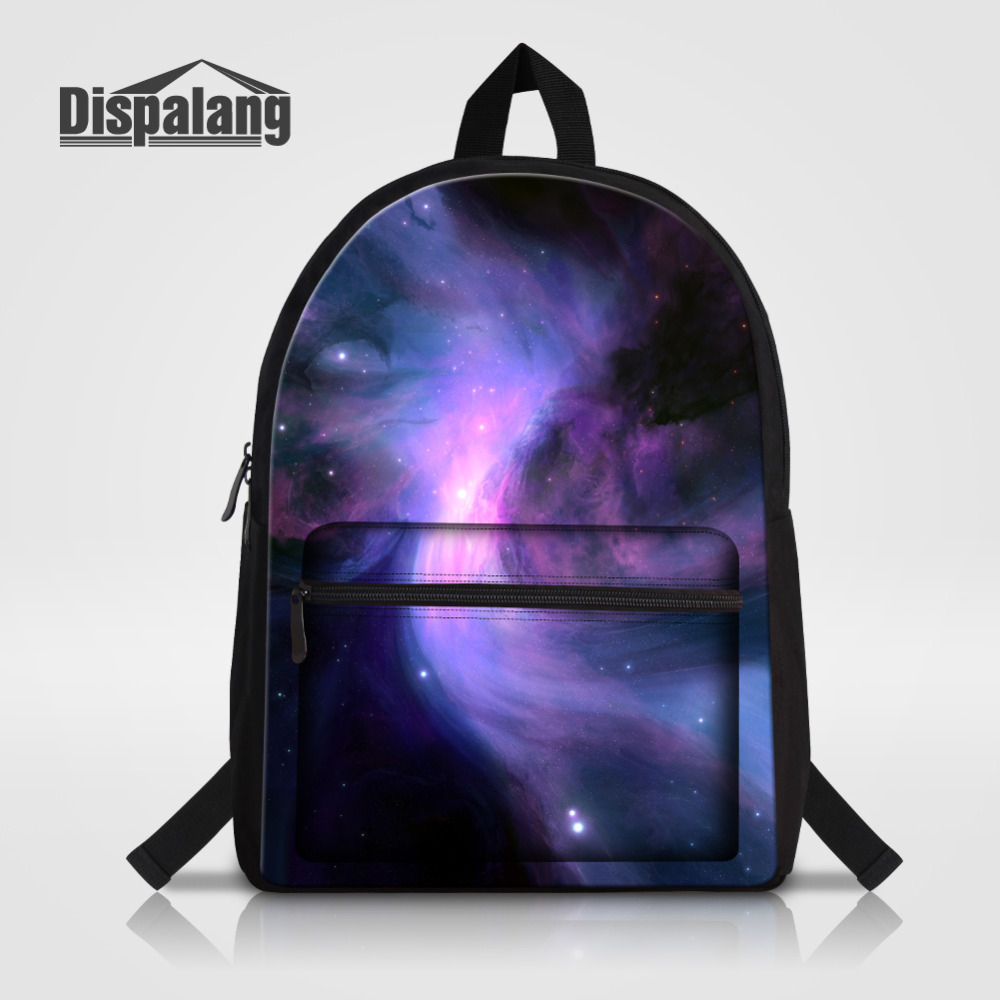 Dispalang Universe Galaxy Backpack Women Preppy Children School Bags For Teenagers Men Cotton Travel Bag Laptop Backpack Mochila kunzite 5 pc set men and women backpacks casual travel backpack mochila teenagers women student school book bags laptop backpack