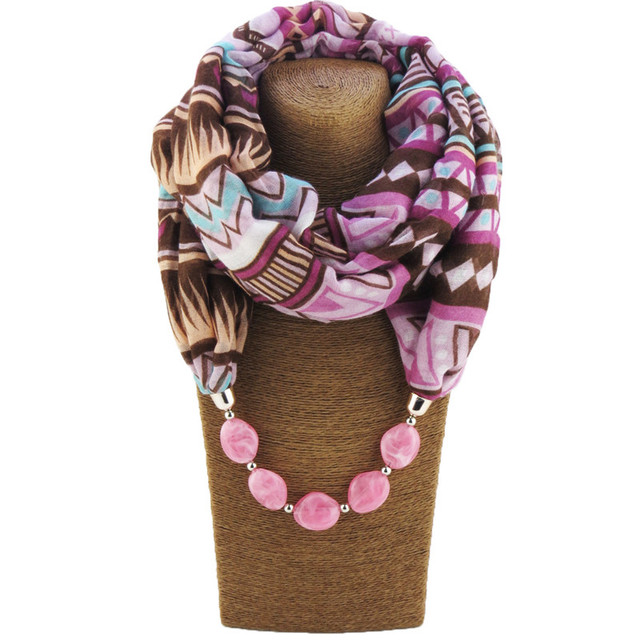 Geometric Beads Jewelry Scarves | Necklace Scarves