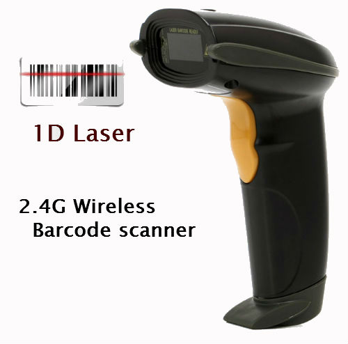 Multi-language Portable 2.4G Wireless USB Laser Barcode Scanner BarCode Reader for Supermarket Bank Warehouse Logistics ...