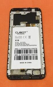 Image 2 - Verwendet Original LCD Display + Digitizer Touchscreen + Rahmen für Cubot X18 MT6737T Quad Core Kostenloser Versand