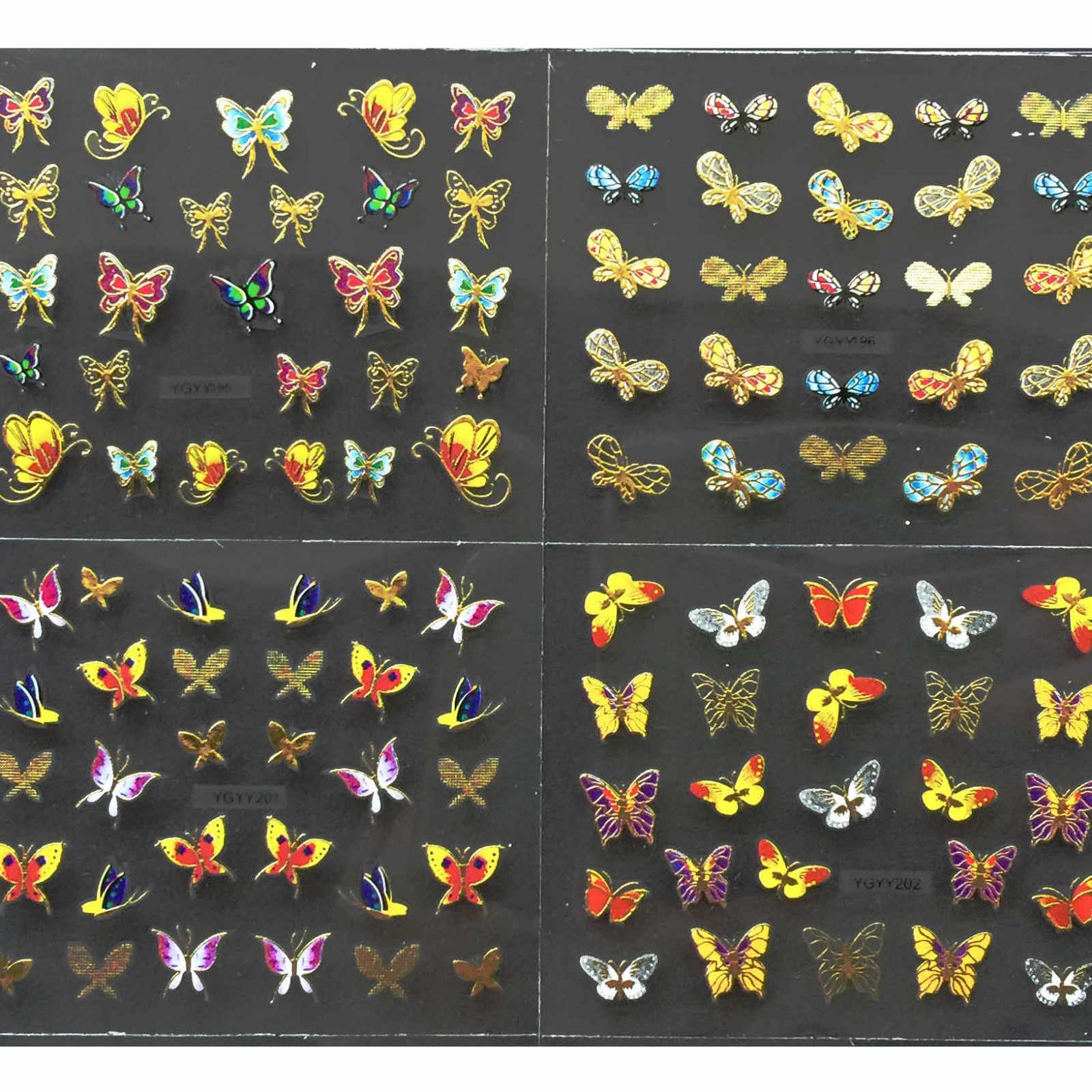 Nail Tools Nail Bronzing 24PCS Nail Art Transfer Stickers 3D Butterfly Manicure Tips Decal Decorations 6.4 x 5.3 cm Oct24