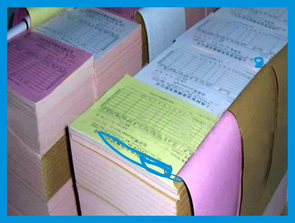 Carbonless paper for continuous form printing/ office supply Autocopiativo