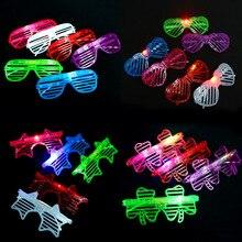 1 шт. Новый творческий жалюзи очки партия танцы светящиеся пластиковые игрушки очки