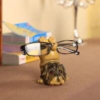 Cute Animal Dog Okulary Stojak Rzemiosło Żywicy Piękne Okulary Okulary Stojak Uchwyt Rack Zwierząt Home Decor Najlepszy Prezent