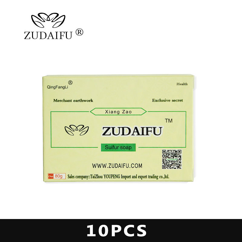 Soriasis Antibacterial Cream Sulfur Soap ZUDAIFU Handmade Chinese Herbal Restrain Bacterium Sulphur Soap Whitening Bath Have Box