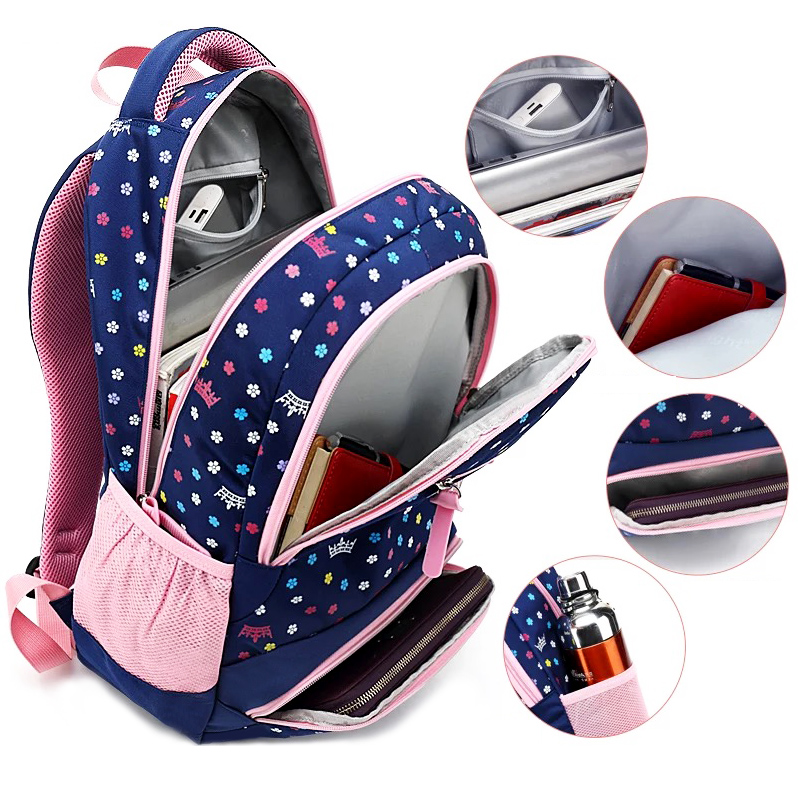 f6eae28c38 SUN EIGHT Big Capacity New Daisy Printing Girl School Bag Kid Backpack  Zipper Backpacks School Bags For Teenagers Girls - aliexpress.com -  imall.com