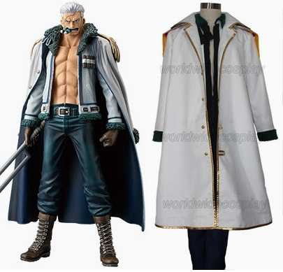 Gratis frakt One Piece Smoker Cosplay Kostym Custom Made for Christmas