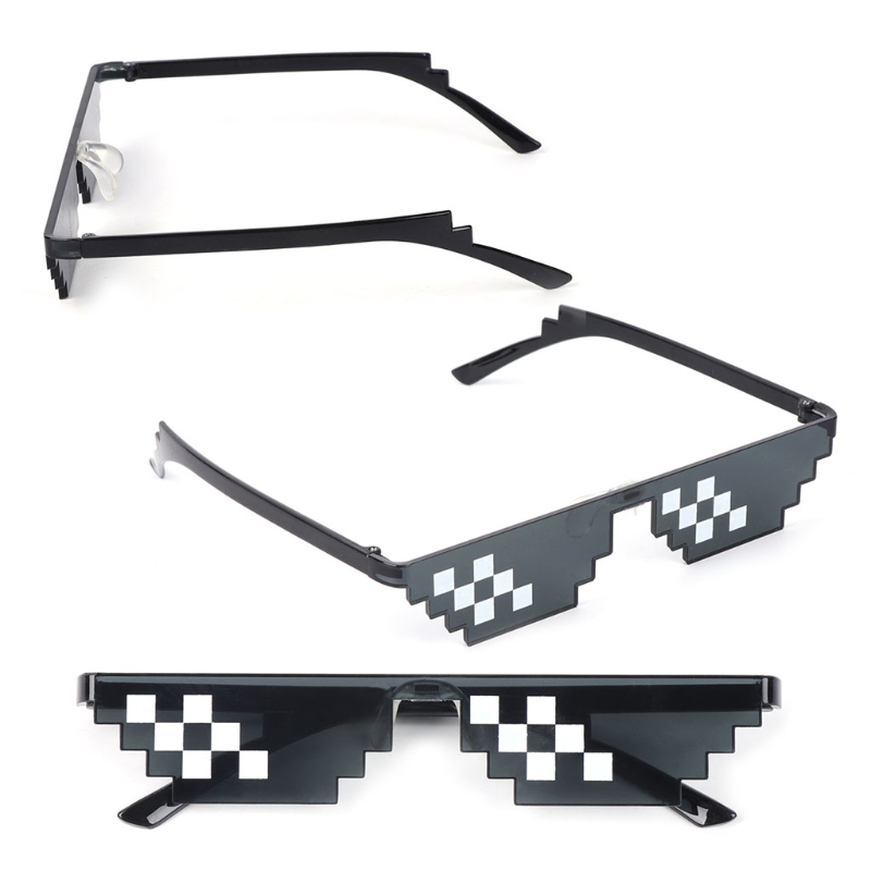 Mosaic Sunglasses Trick Toy Thug Life Glasses Deal With It Glasses Pixel Women Men Black Mosaic Sunglasses Funny Toy Oct26 Kitchen Appliance Parts