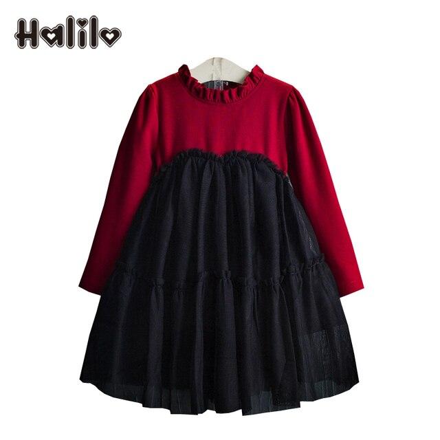 86ed3b2320c9 Halilo Toddler Girl Dresses Long Sleeve Spring Autumn Girls Tutu ...
