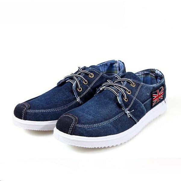 Men Shoes Low Canvas Newest Fashion Trend Casual Breathable Shoes Denim Shoes Lace Up Vintage British Designer-Shoe Moccasin Men