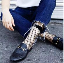 2017 Spring And Summer New Fashion Sexy Black Women Fishnet Tights Grid Socks Free Shipping