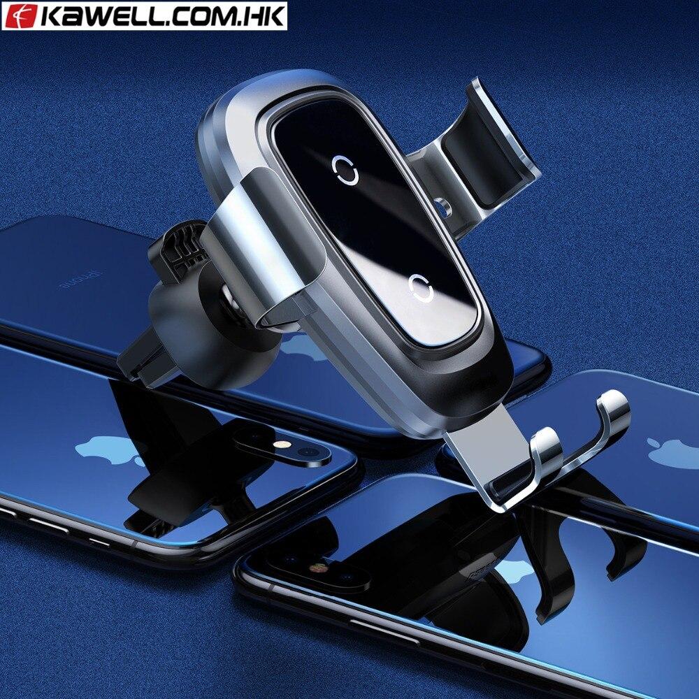 Qi support voiture chargeur sans fil support pour téléphone Mobile support d'évent de voiture support pour téléphone pour iPhone X pour téléphone intelligent
