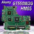 Akemy N53SN материнская плата для ноутбука ASUS N53SN N53SM N53SV N53S N53 тест оригинальная материнская плата GT550M 2GB HM65