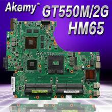 Akemy N53SN материнская плата для ноутбука ASUS N53SN N53SM N53SV N53S N53 Тесты оригинальная материнская плата GT550M 2 Гб HM65