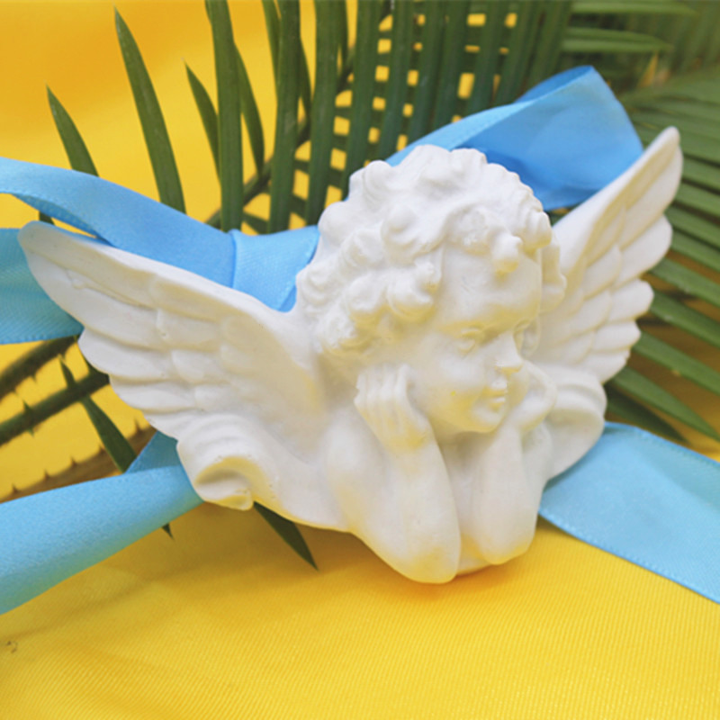 stereo angel soap making silicone mold 3d plaster craft clay molds Aromatic Gypsum Toy Making Mould in Clay Molds from Home Garden