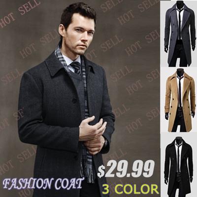 2016 de Inverno casuais dos homens Breasted Sobretudo Frete grátis Por Atacado único magro outerwear projeto long double breasted casaco de lã
