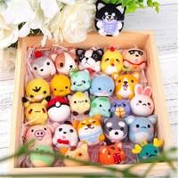 New wool felt diy material bag poke music box set dog shiba inu animal doll handmade cat pendant