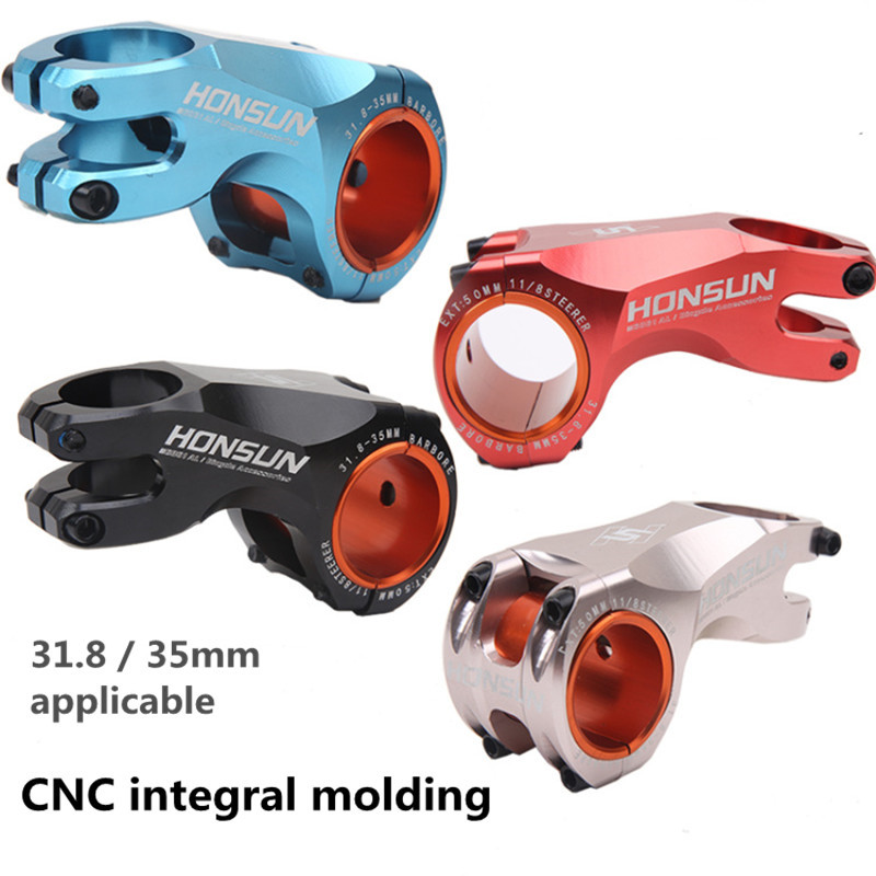Bicycle Stem Aluminum Alloy Riser Road Cycle 35mm/31.8mm 28.6mm CNC 17 Degrees MTB Handlebar Stems
