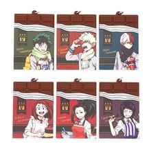 My Hero Academia Anime Boku no Hero Academia Deku Midoriya Bakugo Shoto Uraraka Yaoyorozu Jirou Chocolate Rubber Keychain цены онлайн
