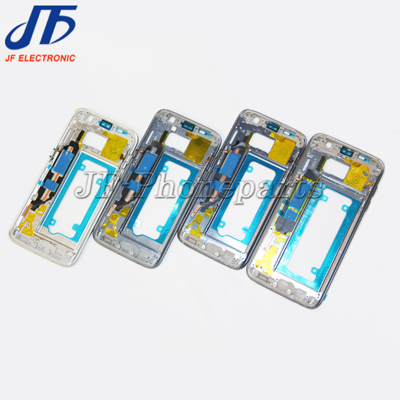 For Samsung Galaxy S7 G930F S7 edge G935F Middle Plate Frame Housing Bezel Chassis with all small parts 1pcs
