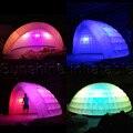 Venta caliente portátil al aire libre tienda de la bóveda inflable iglú carpa cúpula con luz led para el partido