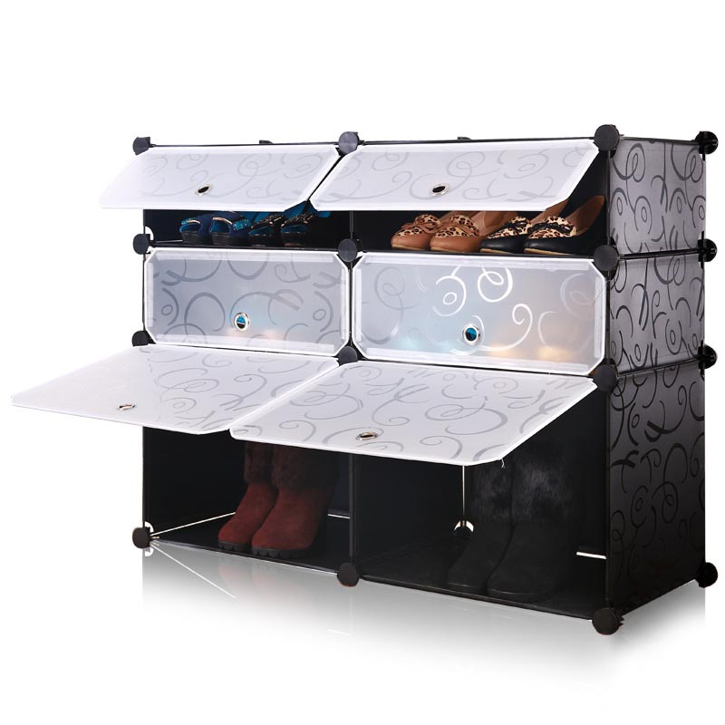 Cheap Increased Widening Modular Simple Wardrobe Shoe Rack Plastic Boots Storage  Cabinet Dust Creative Magic Piece Diy In Shoe Cabinets From Furniture On ...