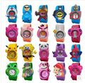 2016 New Fashion mixed style Cartoon Watch Children Silicone Quartz WristWatch Slap Cute Gift hot Sale 1pcs