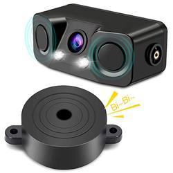 Threecar 3 في 1 جهاز استشعار فيديو لصف السيارة سيارة عكس احتياطية كاميرا الرؤية الخلفية مع 2 الرادار كاشف أجهزة الاستشعار إنذار مؤشر مكافحة سيارة