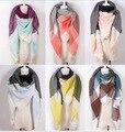 Autumn and Winter Women Scarves Plaid Cashmere Scarf Unisex Acrylic Oversized Shawls Female pashmina bufandas JH140