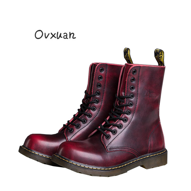 1abc873e48fb Ovxuan Men s Martin Boots Genuine Leather Handmade Luxury Brand Men Boots Outdoor  Casual Oxford Boots Shoes Big Size Ankle Boots