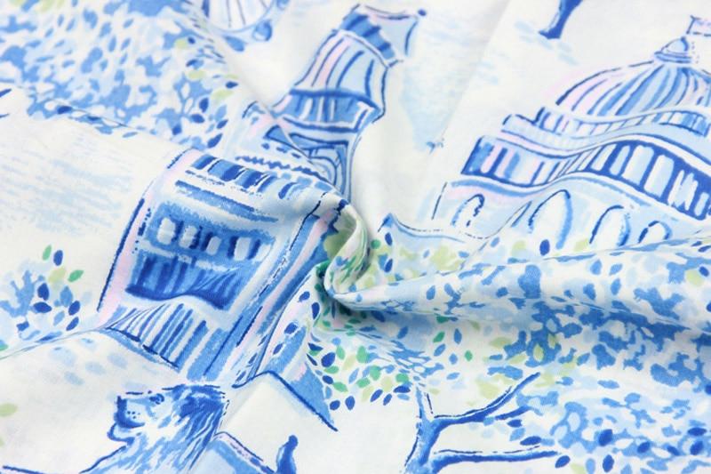 100x140 Cm Retro Londen Big Ben Buckingham Palace Crème Achtergrond Katoen Stof Voor Gordijn Tafelkleed Kussenhoes Diy- Te Koop