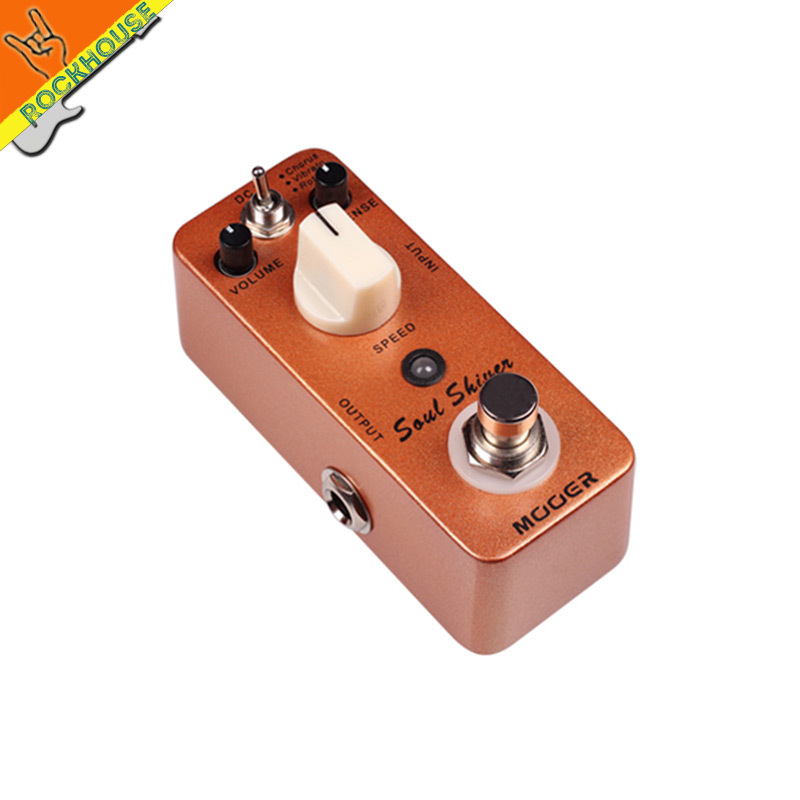 MOOER Soul Shiver Multi-effect Modulation Guitar Effects Pedal Chorus Vibrato Rotary Speaker Simulator True Bypass Free Shipping mooer ensemble queen bass chorus effect pedal mini guitar effects true bypass with free connector and footswitch topper