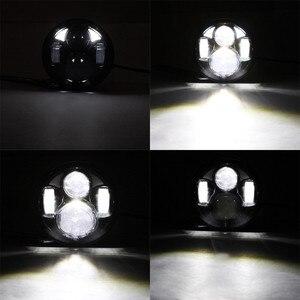 """Image 5 - 5.75 """"ハーレーのオートバイアクセサリー 4Dラウンドプロジェクターレンズledヘッドライト 10v 30v 40 ワット用リアブレーキパッドスポーツスターxl 883/xl"""