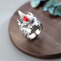 Skull Ring 925 Sterling Silver Jewelry Vintage Anel Charm Boho Joyas Haut Bague Femme Aneis Anelli Punk Rings for Men Anillos