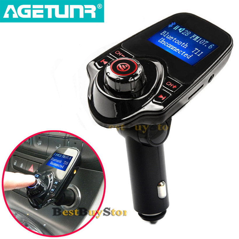 New T11 Super Hot Sale Bluetooth Car Kit Handsfree Set MP3 Player FM Transmitter Support Micro