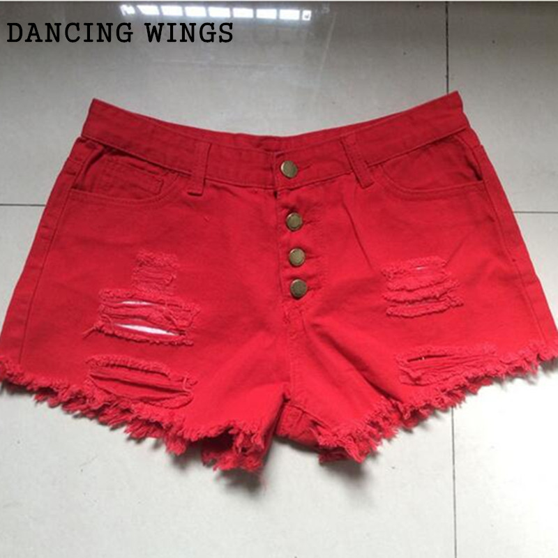 Popular Red Denim Shorts-Buy Cheap Red Denim Shorts lots from ...
