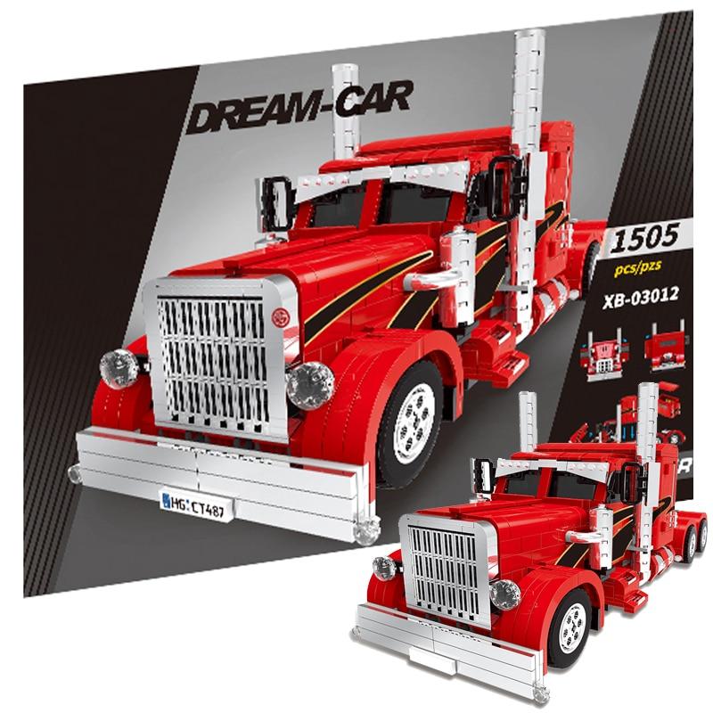 XINGBAO 1505 pièces rouge monstre camion véhicule ville voiture Legoings MOC technique blocs de construction briques bricolage Tech jouets pour enfants cadeaux