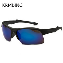 KRMDING Mens Sports Windproof Style Sunglasses Travel Oculos Driving Golf Unbreakable Luxury Plastic Frame Glasses