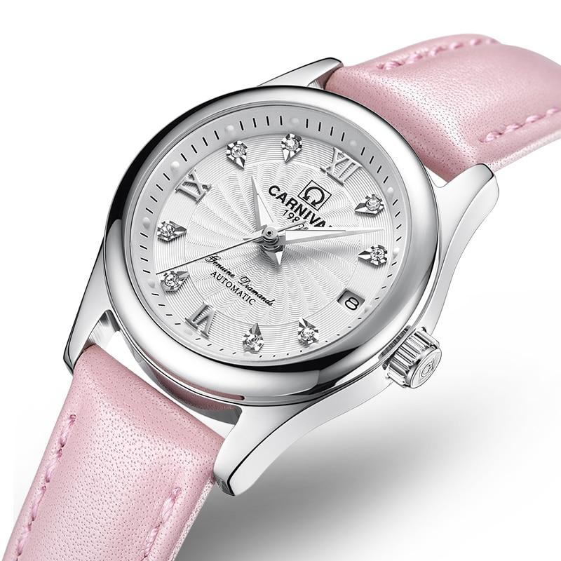 Carnival Women Watches Luxury Brand ladies Reloj Mecánico - Relojes para mujeres