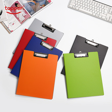 High Quality PP  A4  Exam Paper Writing Boards With Clip PP Business Document File Folder Clipboard Office And School Stationery 1 pc high quality environmental wooden clipboard a4a5 writing board folder clipboards office stationery supplies