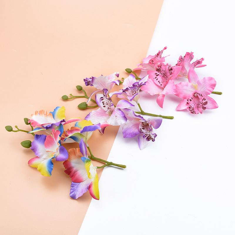 1 bunch Butterfly orchid Vase for home artificial flowers for decoration fake plants scrapbooking diy decorative flowers wreaths