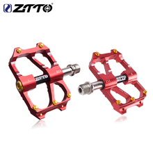 ZTTO MTB Road Bike Ultralight Bicycle Pedal Mountain CNC Part Cycling AL Alloy Hollow 6 Bearings Anti-slip Pedals