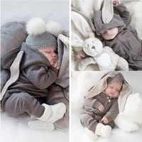 Infant Kleidung 2020 Herbst Frühling Kaninchen Overalls Baby Strampler Für Baby Mädchen Overall Ostern Kostüm Neugeborenen Baby Jungen Kleidung