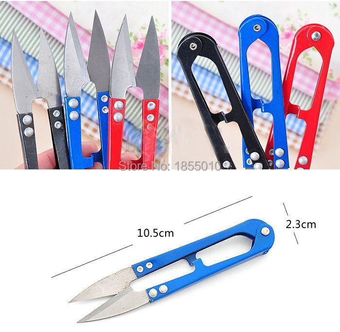 High Quality U Shape Clippers Trimming Scissors Sewing Tool Embroidery Snips Beading Thrum Thread Cutter Nippers Mini Scissors цена