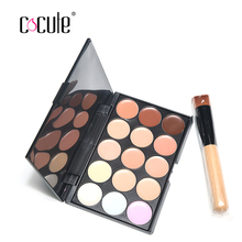 2017 New 15 Colors Professional Salon Party Concealer Contour Face Cream Makeup Palette +1pc Makeup Brush Makeup Contour Palette