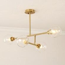 Post Modern Bedroom E27 LED Molecular Chandelier Nordic Decorative Lighting Glass Ball lamp Restaurant Lights